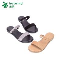 热风女士小清新两穿拖鞋平底露趾凉鞋H51W8213