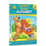 【3-5岁字母练习】School Zone Giant workbook Alphabet 学前字母练习册 英文原版