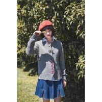 韩版学院风胸针装饰秋季女士针织衫手工亮片暗扣开衫短外套 W2052