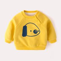 宝宝加绒加厚卫衣小童冬季女童保暖上衣婴幼儿衣服男洋气婴儿冬装