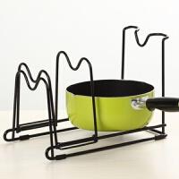 厨房锅盖架多功能置物架放锅盖的架子菜板架砧板架案板收纳架锅架 黑色 升级款