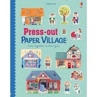 Press-Out Paper Village 英文原版 纸村庄:手工纸模型 进口原版 儿童动手玩具书