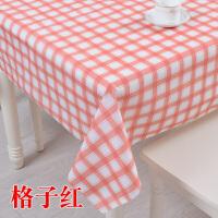 苏格兰格子风格防水桌布PVC塑料台布防烫免洗田园茶几布餐桌布 防水桌布(格子红)
