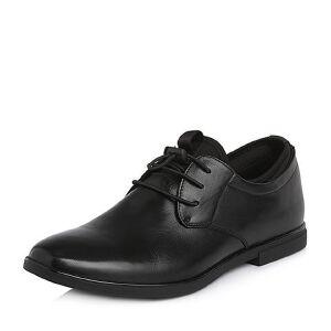 Teenmix/天美意2018春专柜同款牛皮/织物舒适方跟男单鞋2GJ01AM8