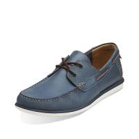 Clarks其乐男鞋真皮轻质舒适休闲鞋Kelan Step专柜正品