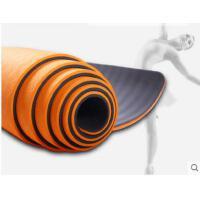 舞蹈垫运动加长加宽无味训练垫TPE瑜伽垫双面双色 加厚防滑瑜伽健身垫