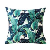 植物美式田园沙发抱枕套汽车含芯靠枕现代办公室客厅靠垫靠背