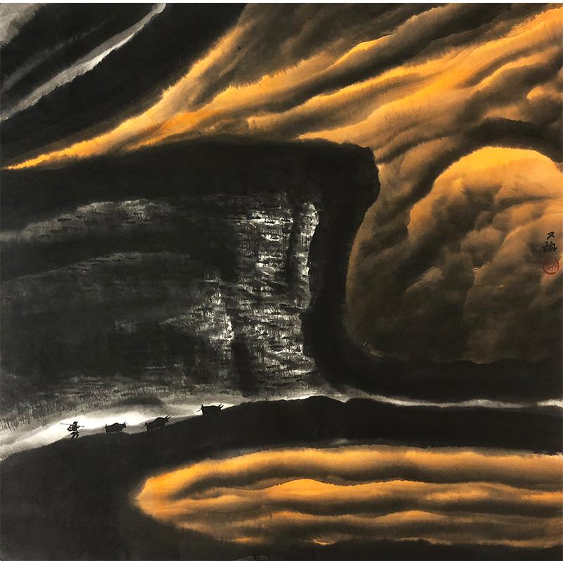 贾又福《太行山》著名画家