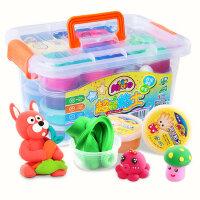 超轻粘土女孩儿童无毒太空水晶橡皮泥彩泥手工黏土沙套装玩具24色