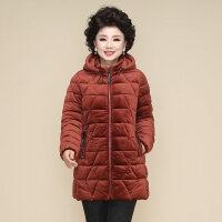 妈妈冬装棉袄大码羽绒棉衣女中老年人加厚金丝绒洋气外套