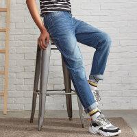 【1件4折到手价:115.6】美特斯邦威牛仔裤男秋季新款时尚潮流怀旧水洗百搭男士牛仔裤