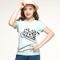 【特惠款】1水孩儿童装夏装新款女童短袖T恤圆领衫AOAXK601