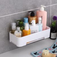 卫生间壁挂式置物架厨房浴室洗漱用品收纳架免打孔无痕储物架 cm