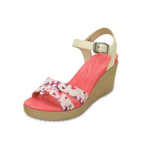 【领券下单立减150】Crocs卡骆驰女鞋舒适时尚蕾丽花纹坡跟二代厚底休闲女凉鞋|202516 蕾丽花纹坡跟二代