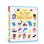 Usborne 英文原版 My First Word Book Board book 我的单词书 内容丰富有趣 1-2