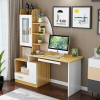 台式电脑桌简约现代书柜书桌一体桌家用写字台卧室桌子学生写字桌
