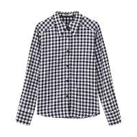 【满1000减750】美特斯邦威格子长袖衬衫女新款潮流前线纯棉衬衣秋上新