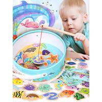 一岁女孩宝宝儿童磁性钓鱼玩具0-1-2-3周岁婴儿男孩小猫钓鱼玩具