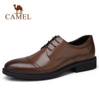 camel 骆驼男鞋 秋季新款商务正装皮鞋英伦复古办公休闲系带皮鞋