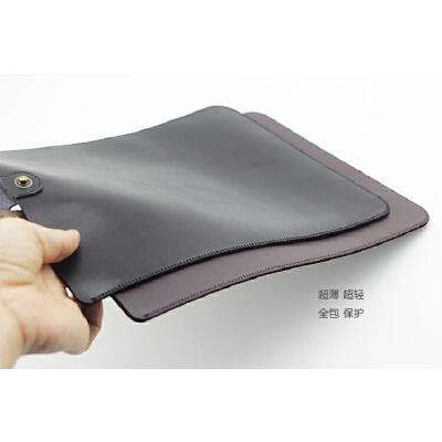 微软平板电脑套Pro6 Surface Pro5 4保护套12.3寸直插皮套 内胆包 黑色 复古扣款