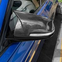 缤智倒视镜宝马新3系4牛角后视镜壳碳纤维f30倒车镜罩款m3m4改装盖子