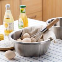 家用304不锈钢盆加深汤盆和面盆厨房烘焙用盆子加厚打蛋盆洗菜盆