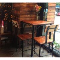 铁艺咖啡桌甜品店桌椅户外阳台桌子美式复古实木组合桌茶几