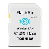 东芝 无线WIFISD卡16g 无线SD卡16G TOSHIBA FlashAir W-03 16G 第三代无线局域网嵌入式SDHC存储卡 Class10 16g