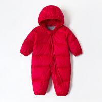 宝宝连体羽绒服冬婴幼儿外出抱衣男女1-3岁轻薄婴儿羽绒连体衣