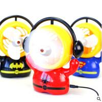 创意 复仇者联盟usb风扇 蝙蝠侠 电风扇 创意迷你小电风扇 图案随机