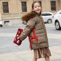 儿童羽绒服女童中长款女孩2018新款韩版洋气中大童装外套