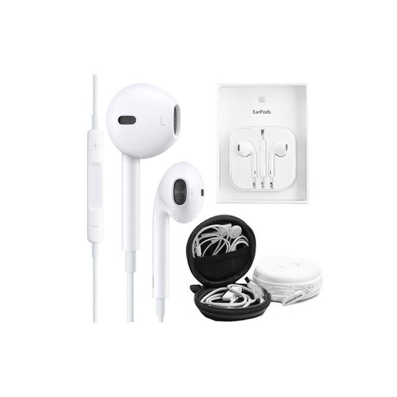 【赠耳机盒】Apple苹果8苹果7/6s EarPods 原装线控耳机耳麦 入耳式耳机立体声重低音/音量调节/带麦克接听电话 iPhone8 iPhone7/iPhone6S、iPad Air mini4线控耳机线控调节 立体声重低音 手机平板通用