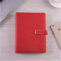 活页笔记本 手账本 8025 磁性搭扣皮面记事本 A5/B5本子 颜色*