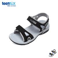 天美意teenmix童鞋2018新款儿童凉鞋时尚舒适学生凉鞋夏季男童休闲鞋(9-12岁可选) 95407D