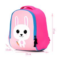 潜水料幼儿园宝宝书包1-3小孩岁儿童包包4岁旅游背包男童双肩包潮 粉红色 小号兔子4岁以下