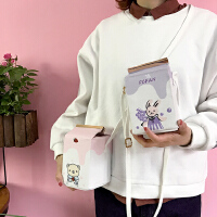 韩国可爱卡通迷你牛奶盒子单肩小包日系软妹个性手机包斜挎包女包