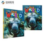 Our World Level 2级别套装美国国家地理小学英语教材学生用+练习册+音频CD