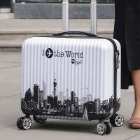 拉杆箱小型密码箱女皮箱登机箱18寸旅行箱迷你万向轮行李箱男拉箱