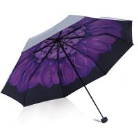 天堂伞晴雨伞两用太阳伞防晒防紫外线折叠黑胶伞