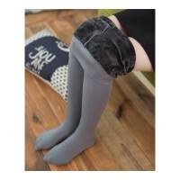 灰色一体裤冬季保暖打底裤加厚加绒连裤袜美腿显瘦打底外穿裤女士 均码