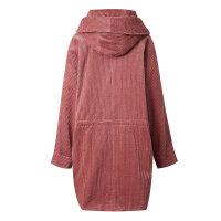 【全场2件2.5折,到手价:99.8】美特斯邦威灯芯绒风衣女士春新款中长款外套秋上新