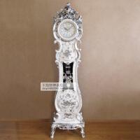 丽盛豪华欧式立钟时尚落地钟奢华别墅客厅摆件时钟大气创意表 6英寸