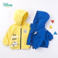 迪士尼Disney童装男童连帽外套春季新款宝宝休闲外衣玩具总动员印花上衣191S1085