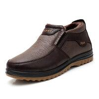 老北京布鞋男冬棉鞋休闲中老年男爸爸棉靴子牛筋底加厚加绒保暖鞋软底