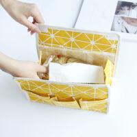 日式屋形布艺餐纸巾套zakka帆布无纺布家居抽纸巾套面纸盒