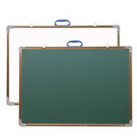 教学黑板小黑板白板双面磁性绿板家用留言板粉笔挂式黑板50*70