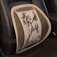汽车腰靠车用靠背垫夏季手编冰丝透气座椅腰托枕靠垫办公室护腰垫