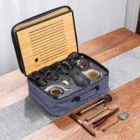 旅行小茶具套装功夫茶杯家用现代简约办公室泡茶壶便携式户外茶盘kb6