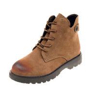 WARORWAR新品YM91-F361冬季韩版平底鞋舒适女士女靴马丁靴短靴