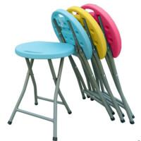 折叠凳塑料凳子家用小圆凳户外休闲凳钓鱼凳浴室板凳折叠椅